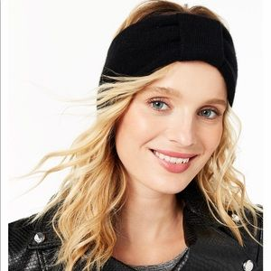 Black Charter Club Cashmere  Earwarmer Headband